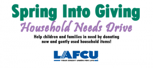 LAFCU Spring Into Giving Drive