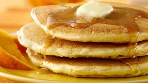 Delicious pancakes. Join us us for the Knigths of Columbus Fundraising Pancake Breakfast at Church of the Resurrection benefiting St. Vincent Catholic Charities