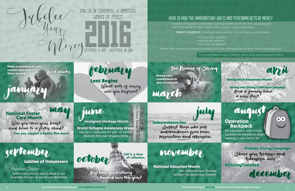 jubilee year of mercy calendar